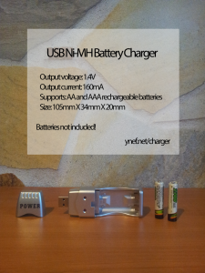 Ynef's cool gadgets - USB NI MH Rechargeable Battery Charger USB Powered