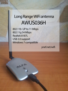 Ynef's cool gadgets - the AWUS036H Long Range Wireless Wifi Antenna Adapter