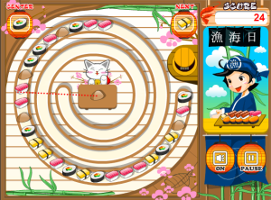 Sushi suma flash game screenshot
