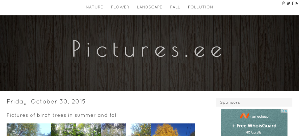 Pictures.ee Blogger Template Screenshot