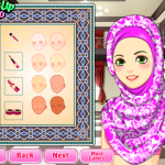 hijab salon girl game screenshot