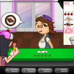 papa louie cupcakes game girl screenshot