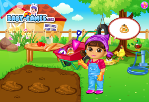 Dora Vegetable Planting Game Screenshot