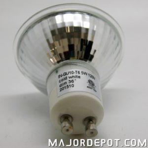 GU10 LED light bulb wattage information as seen on Majordepot.com