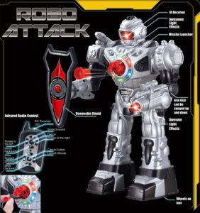 Remote control toy robot for kids robo attack specs