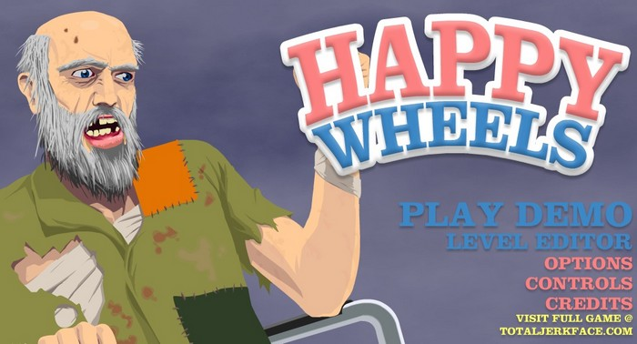 Happy Wheels Main Logo Screen ynef.net Review